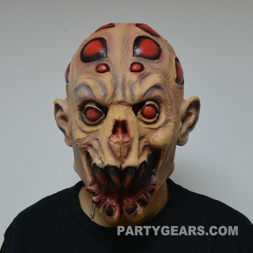Latex horror alien halloween mask glm h0017 partygears - Masque halloween horreur ...