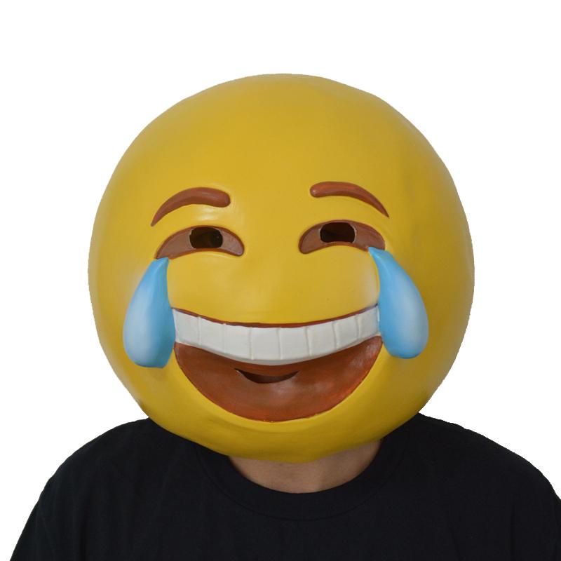 Latex Smile Crying Emoji Mask-PGM-H16052 | PartyGears