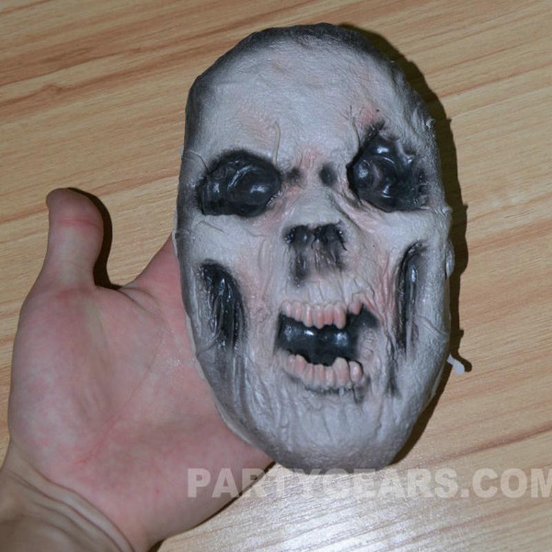 Latex Props Creepy Skull Face Halloween Decoration-GLH